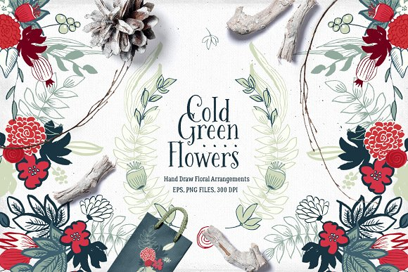 Cold Green Flowers-Graphicriver中文最全的素材分享平台