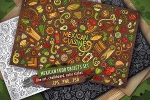 Mexican Food Objects Set