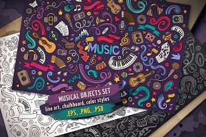 ♬ Musical Objects & Elements Set