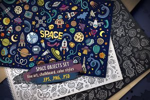 Space Objects & Elements Set