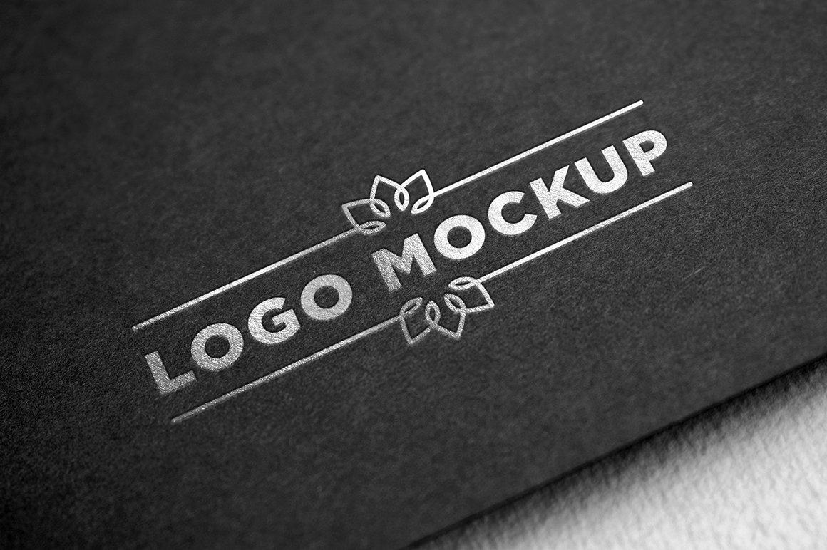 logo mockup silver cm