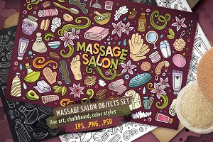 Massage Objects & Elements Set