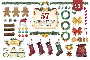 The Best Christmas Vectors Bundle