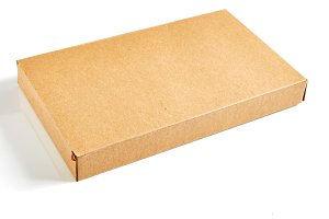 Recycled brown paper box