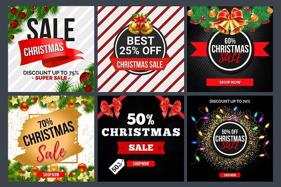 21 Christmas Sales Banners Bundle