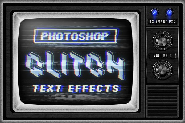 Photoshop Layer Styles - Photoshop Glitch text effects Vol.2