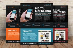 Digital Marketing Flyer PSD