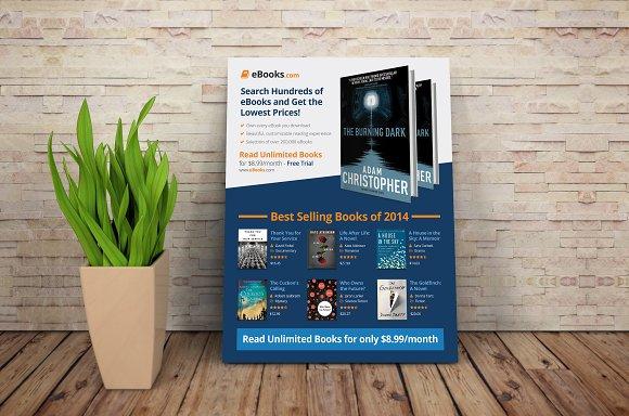 EBook Flyer Template PSD Flyer Templates Creative Market - Selling flyer template