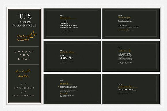 CANARY & COAL socialmedia templates