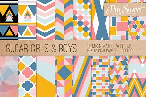 Sugar Girls & Boys 16 Pattern Set