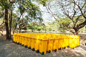 Yellow bins