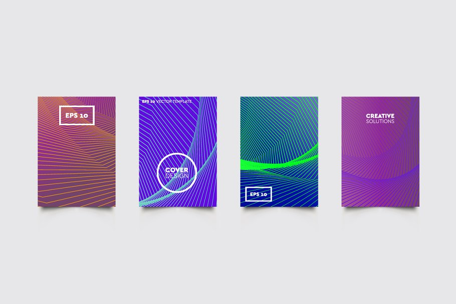 Cover Vector Patterns #192 in Brochure Templates - product preview 8
