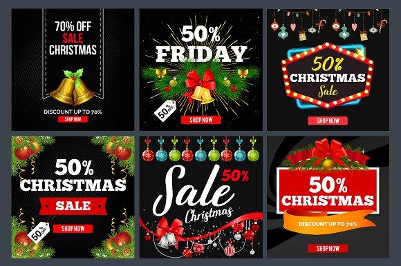 42 Christmas Sales Banners Bundle