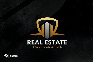 Building Shield - Real Estate Logo
