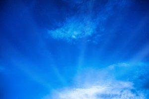Night sky with sun light