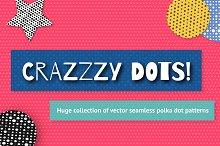100 seamless dotted patten bundle