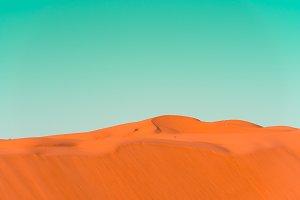 Desert dunes in bright pop art style