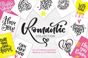 Valentine's Day Lettering & Clipart