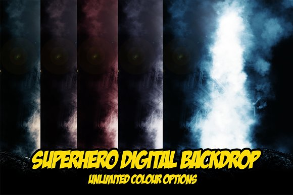 Superhero Digital Backdrop -Graphicriver中文最全的素材分享平台
