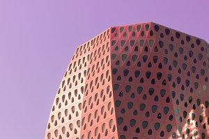Modern building in pop art style