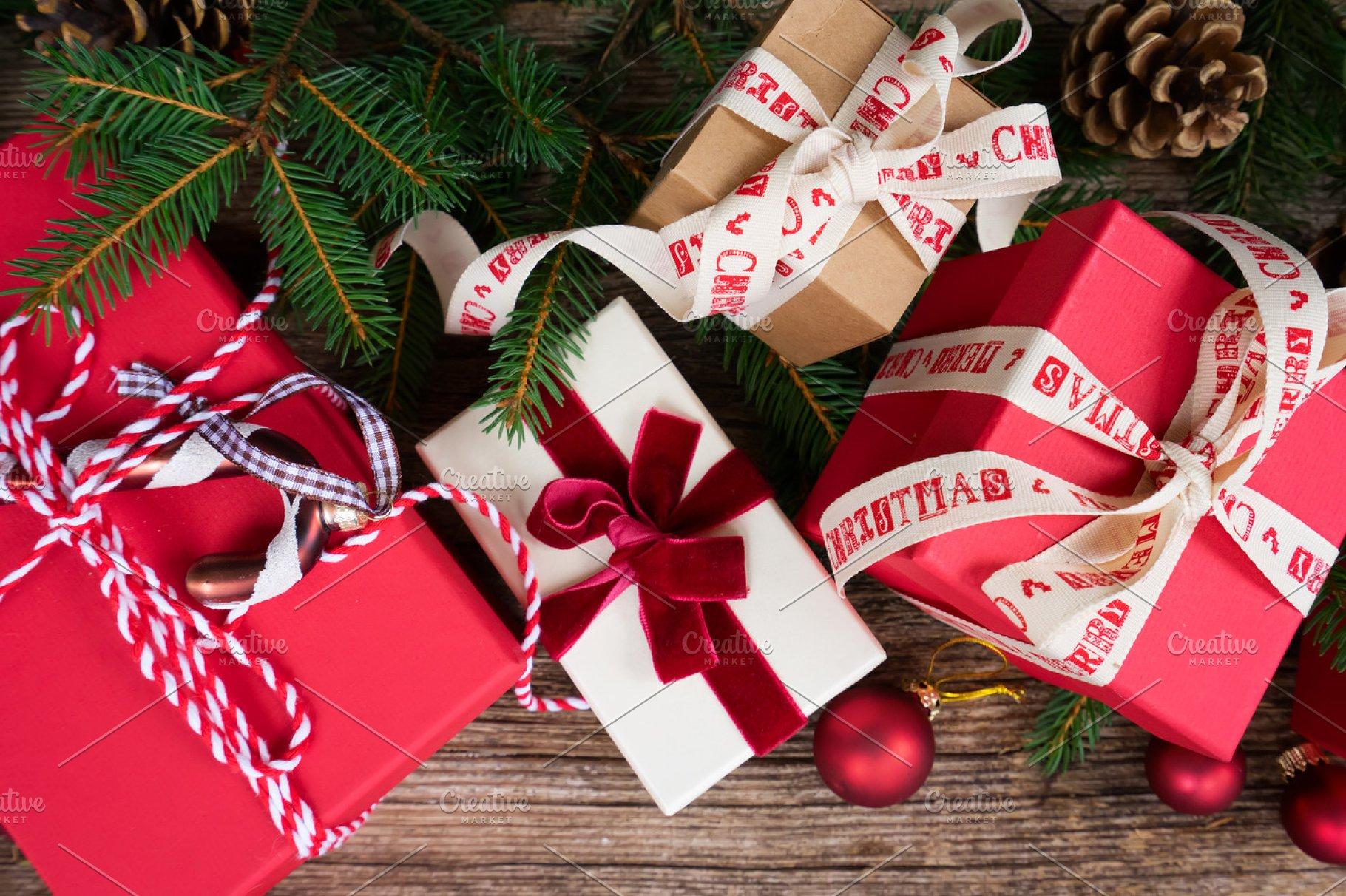 Christmas Gift Giving.Christmas Gift Giving Holiday Photos Creative Market