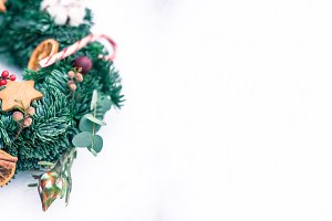 Christmas wreath 6000x2222px