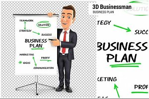 3D Businessman Business Plan
