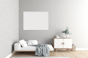 Scandinavian room - interior mockup