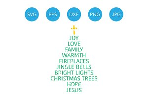 Christmas Tree Words SVG Sayings