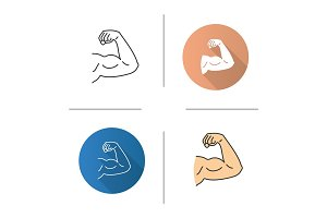 Male bicep icon
