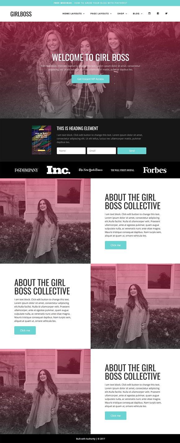 Wordpress Theme - Girlboss