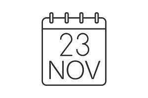 Thanksgiving Day date linear icon