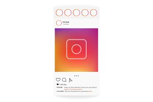 Instagram interface