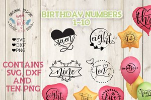 Birthday Numbers Bundle