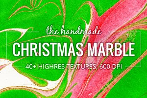 Christmas Marble. 40+ Textures Pack