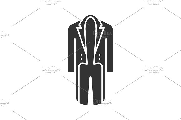 Tailcoat glyph icon