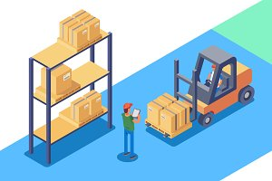 Warehouse for storage and distributi
