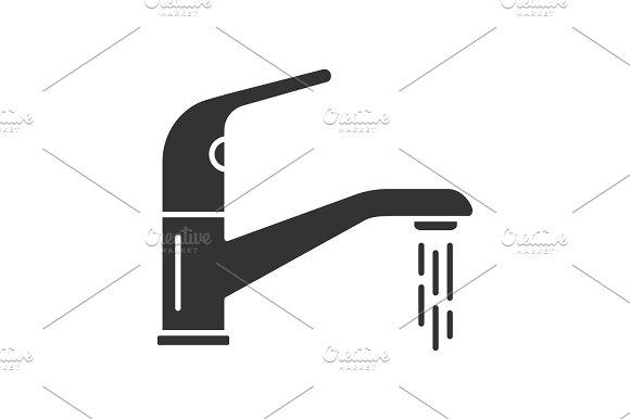 Faucet glyph icon