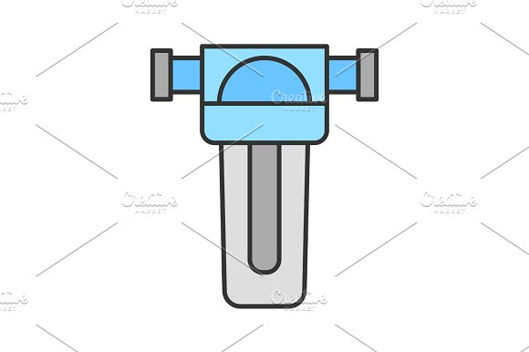 Water filter color icon