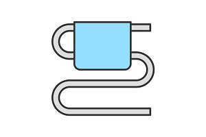 Towel rail color icon