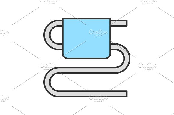 Towel rail color icon in Icons