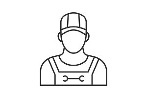 Plumber linear icon