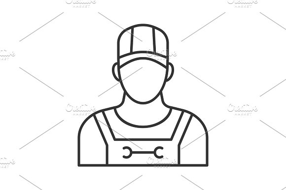 Plumber linear icon in Icons