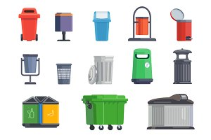 Set of garbage cans