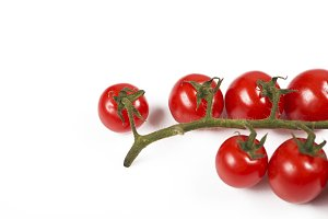 Tomatoes on white background. Isolated. Food