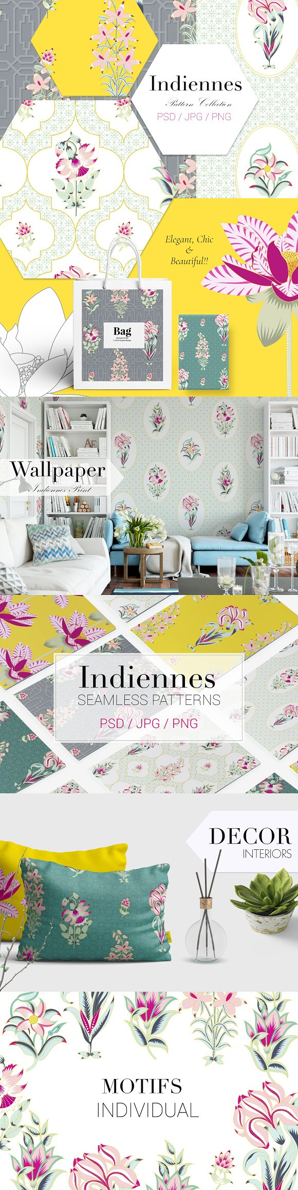 Indiennes - Exquisite Print-Graphicriver中文最全的素材分享平台