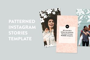 Patterned Instagram Stories Template