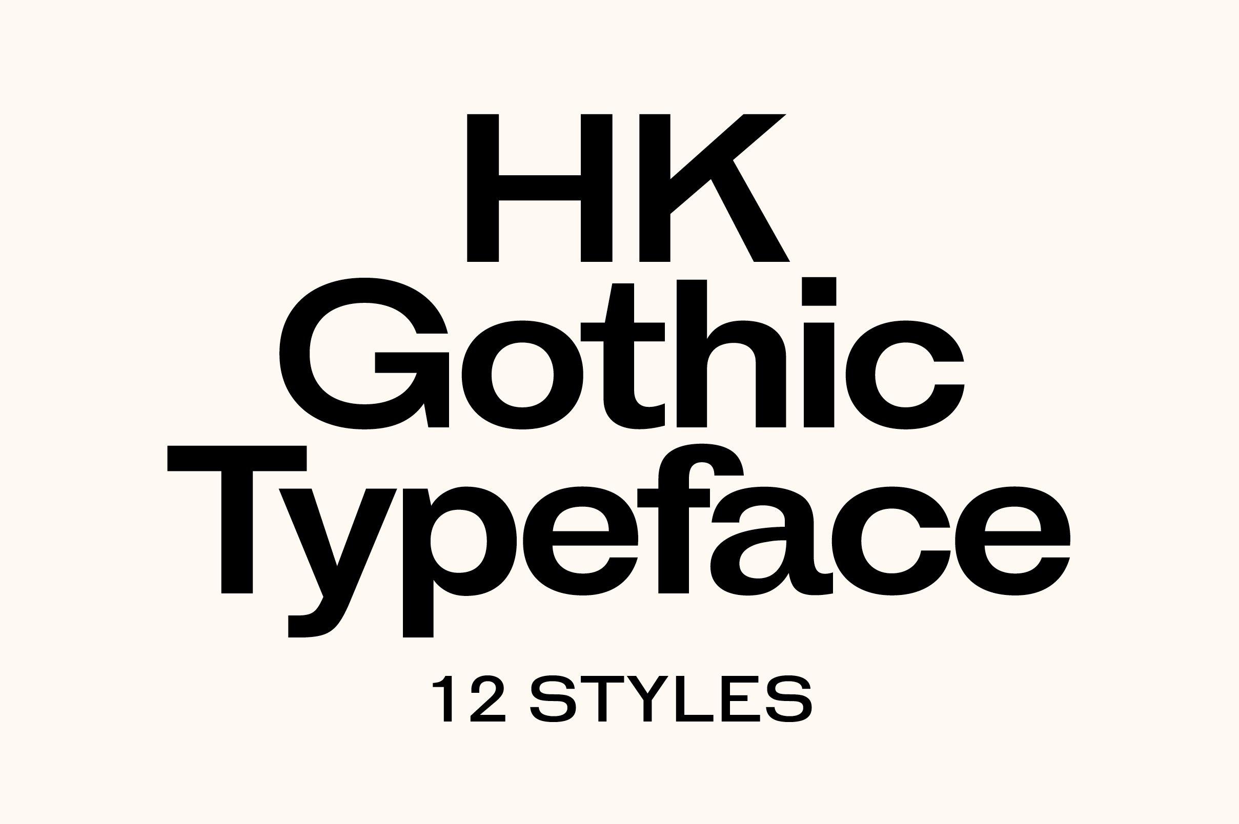 HK Gothic Sans Serif Fonts Creative Market