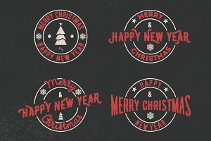 New year sign set