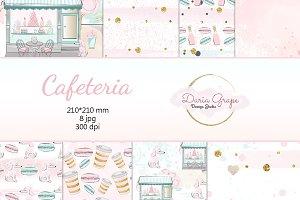 "Digital Paper ""Cafeteria"""